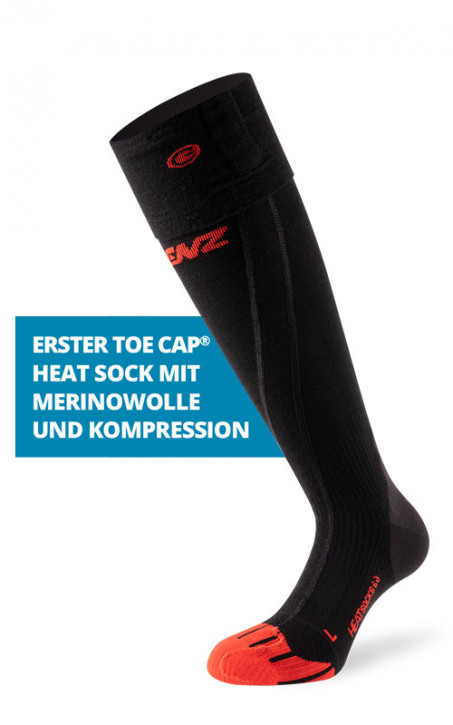 LENZ Heat Sock 6.0 Toe Cap (Merino + Kompression)