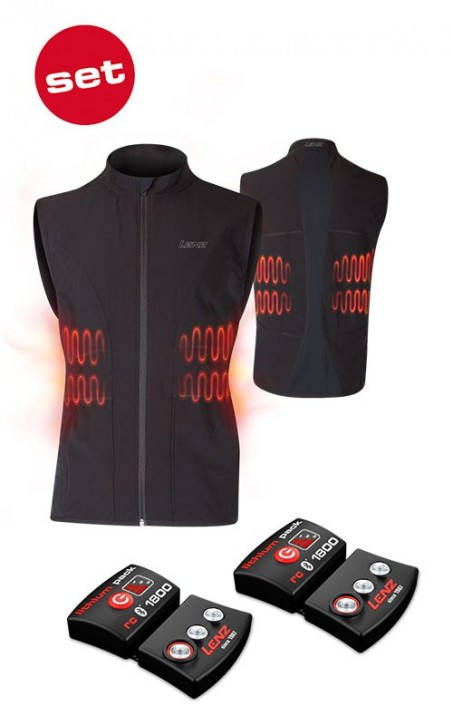 LENZ SET Heat Vest 1.0 Men inkl.  Lithium Pack rcB 1800